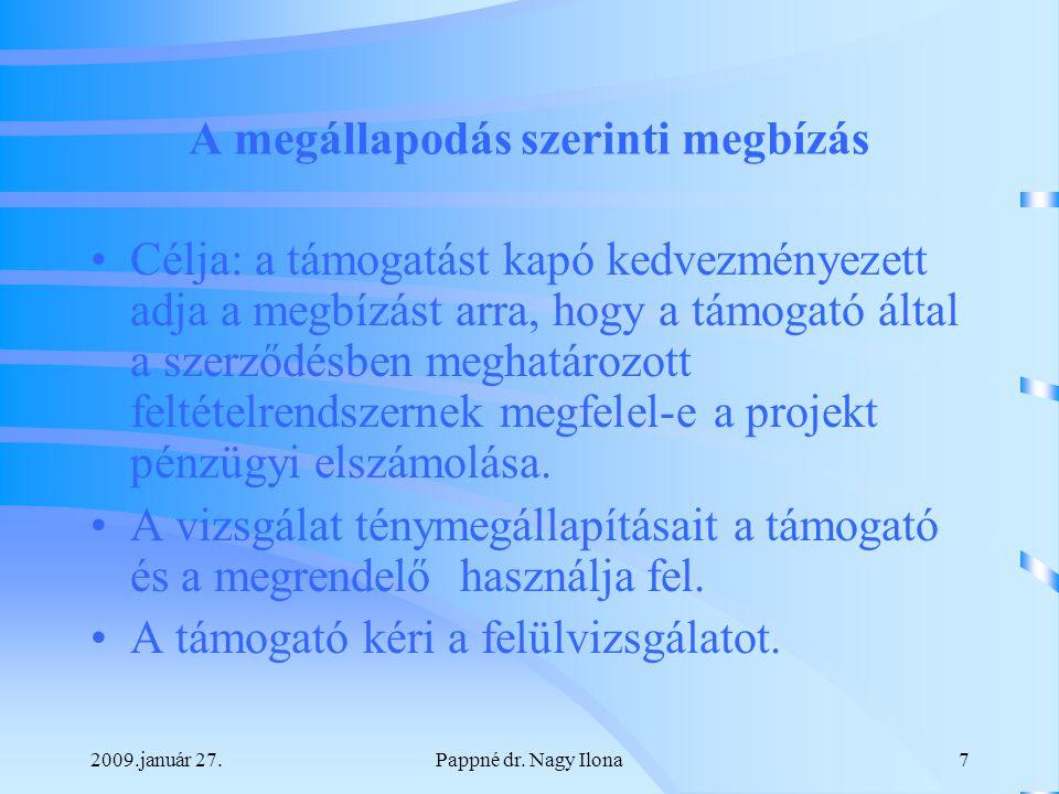 2009.január 27.Pappné dr. Nagy Ilona28 Köszönöm a figyelmet!