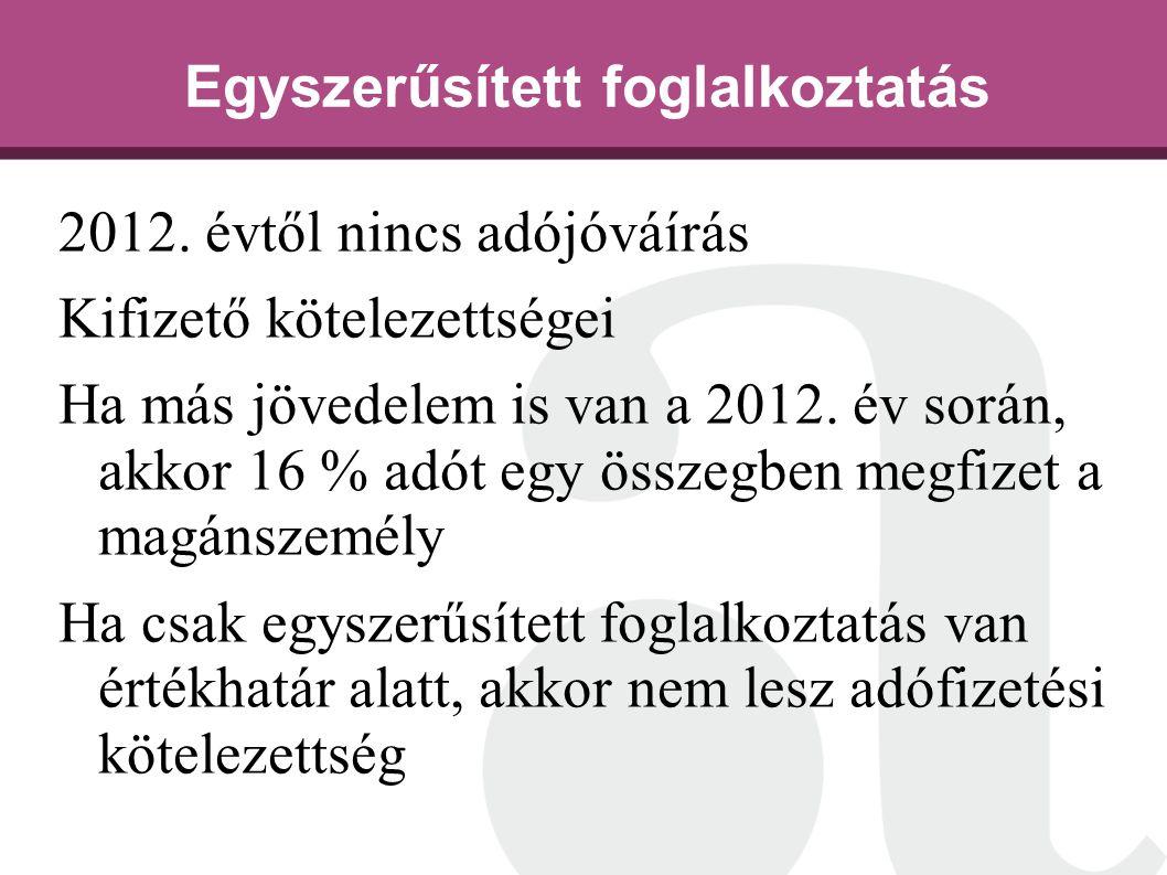 Egyszerűsített foglalkoztatás 2012.