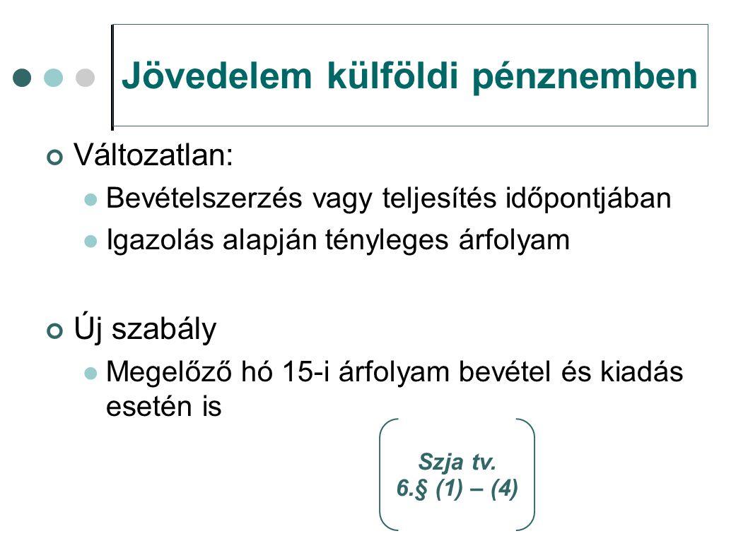 Támogatás, mint jövedelem Vállalkozóvá válási támogatás Nem jövedelem, ha a társaság rendelkezésére bocsátja Szja tv.