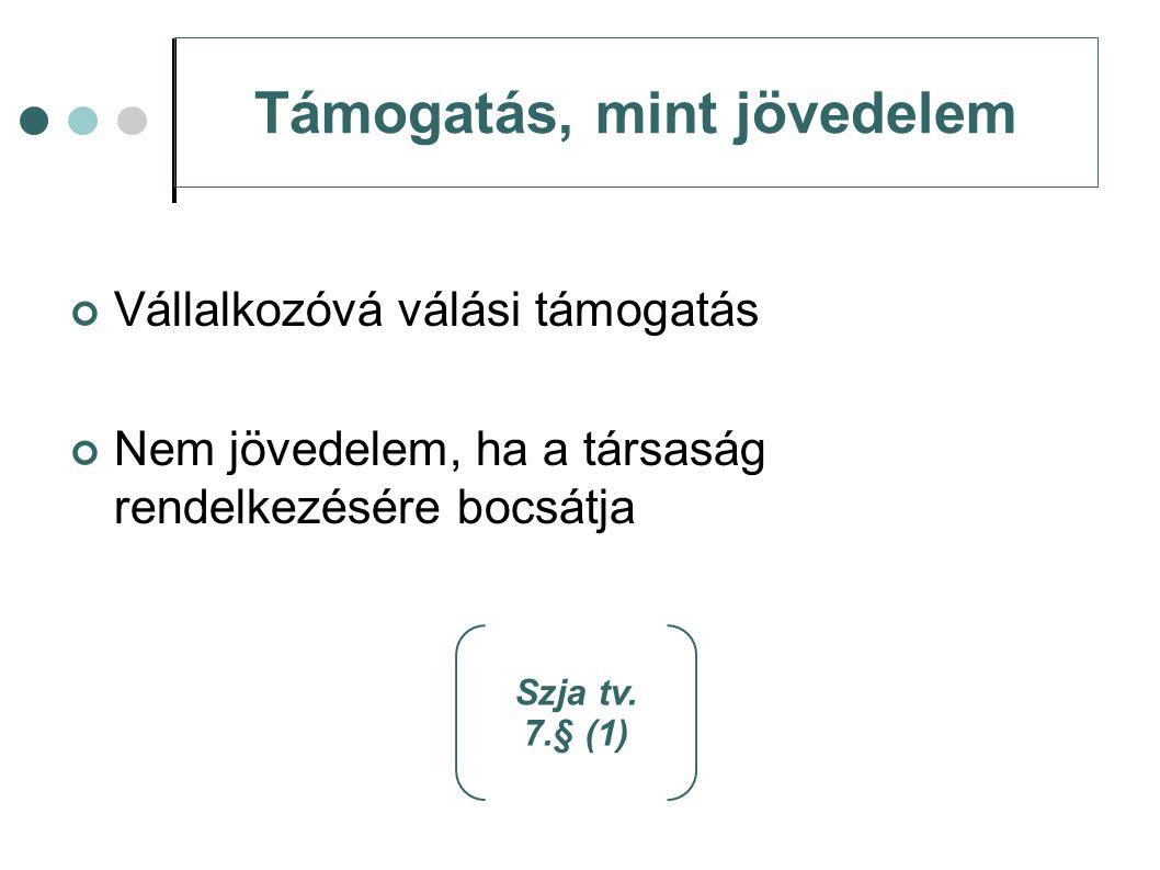 Átmeneti szabály Előleg átvétele: 2011.