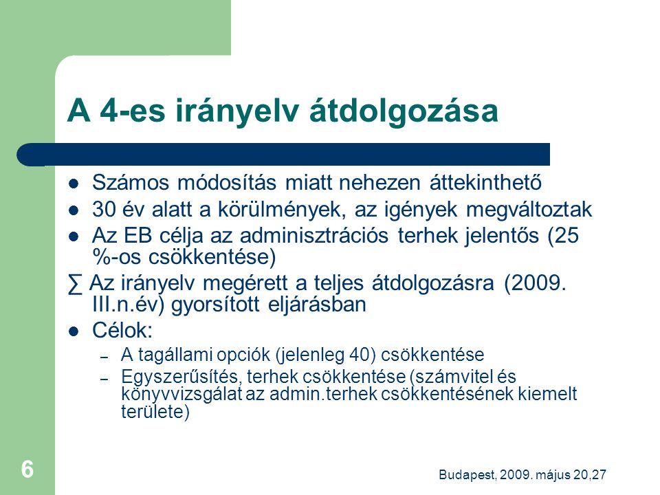 Budapest, 2009.május 20,27 27 Új minőség-ellenőrzés a közérdeklődésűek könyvvizsgálóinál.