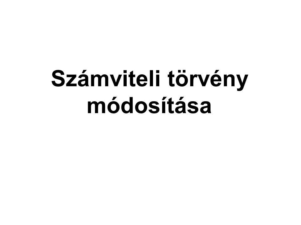 Számviteli törvény módosítása