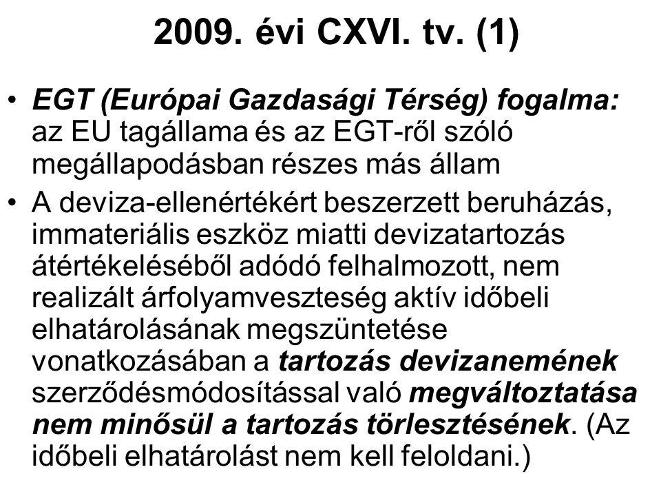2009. évi CXVI. tv.