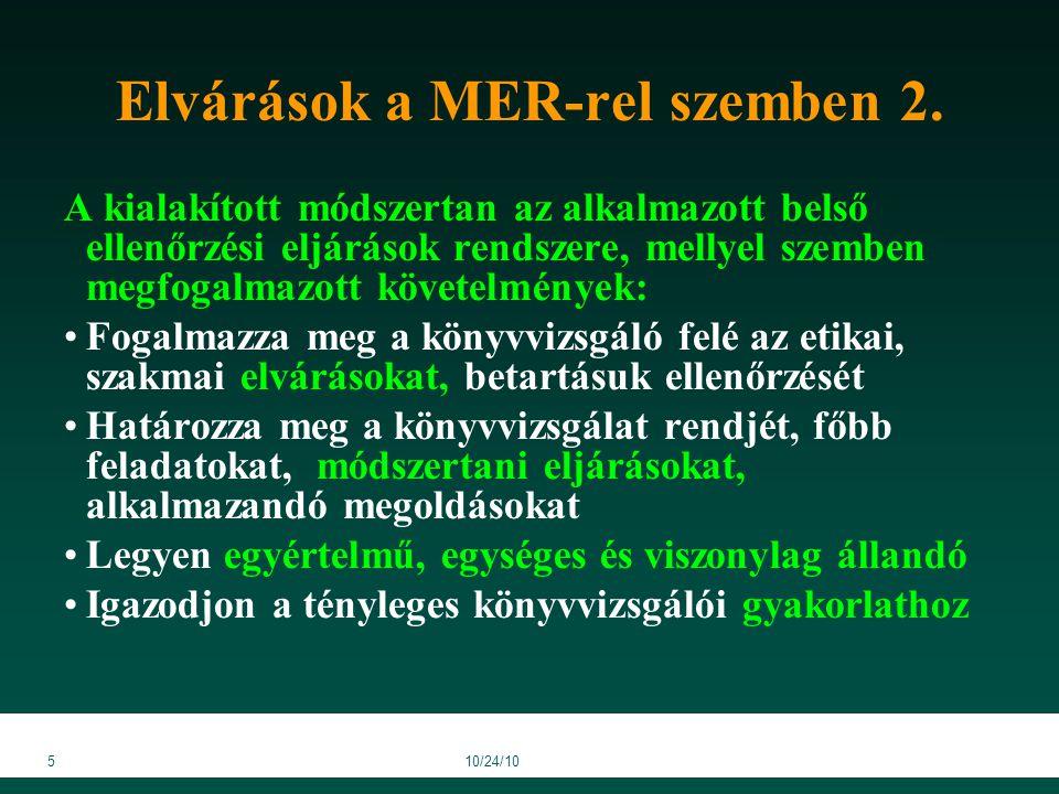 610/24/10 Elvárások a MER-rel szemben 3.