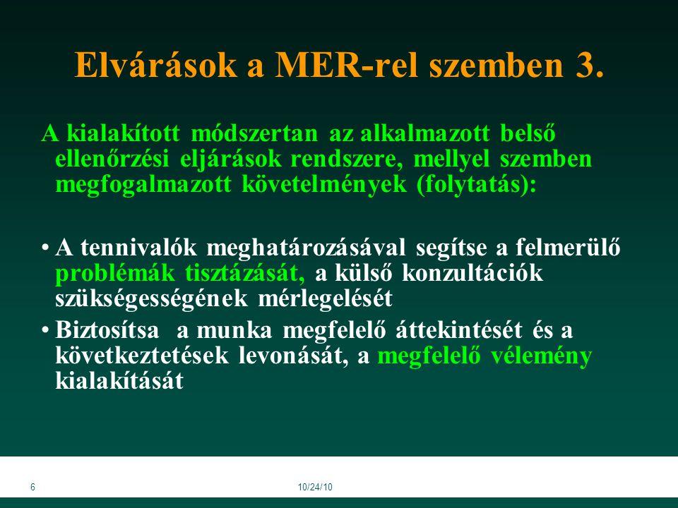 4710/24/10 MER ellenőrzésének kérdőívei 5/a/6.sz.melléklet (15.