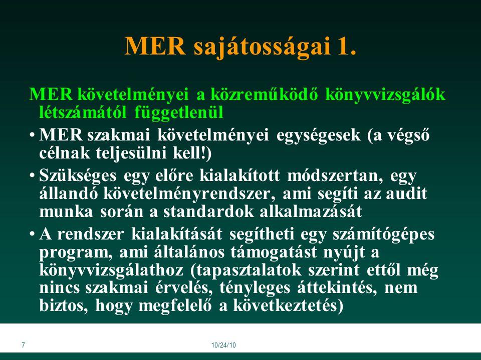 3810/24/10 MER ellenőrzésének kérdőívei 5/a/6.sz.melléklet (6.