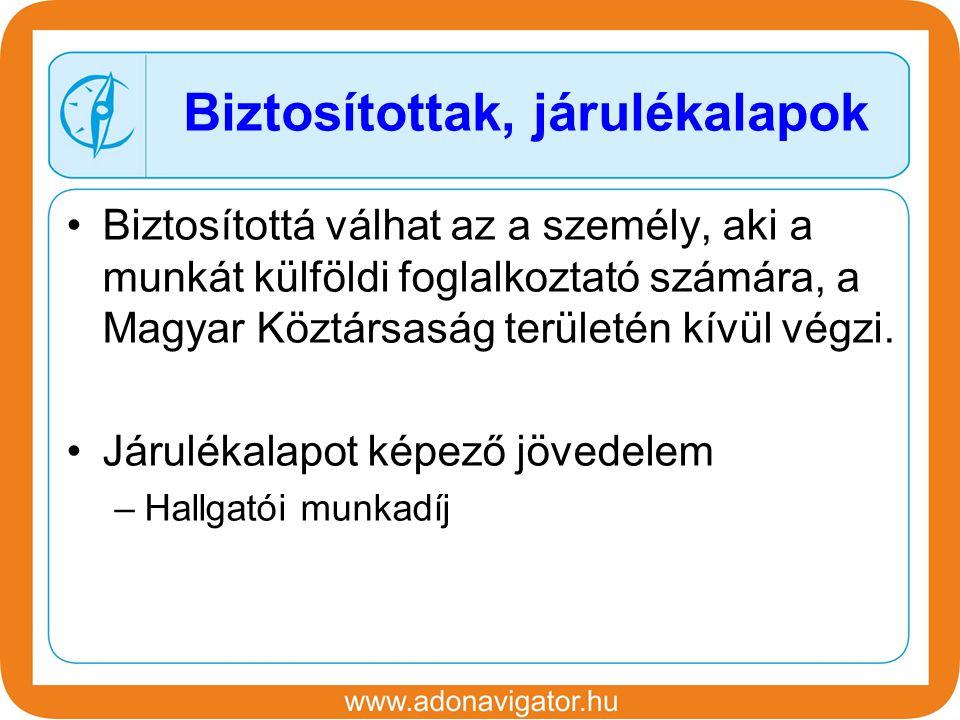 Biztosítottá válhat az a személy, aki a munkát külföldi foglalkoztató számára, a Magyar Köztársaság területén kívül végzi.