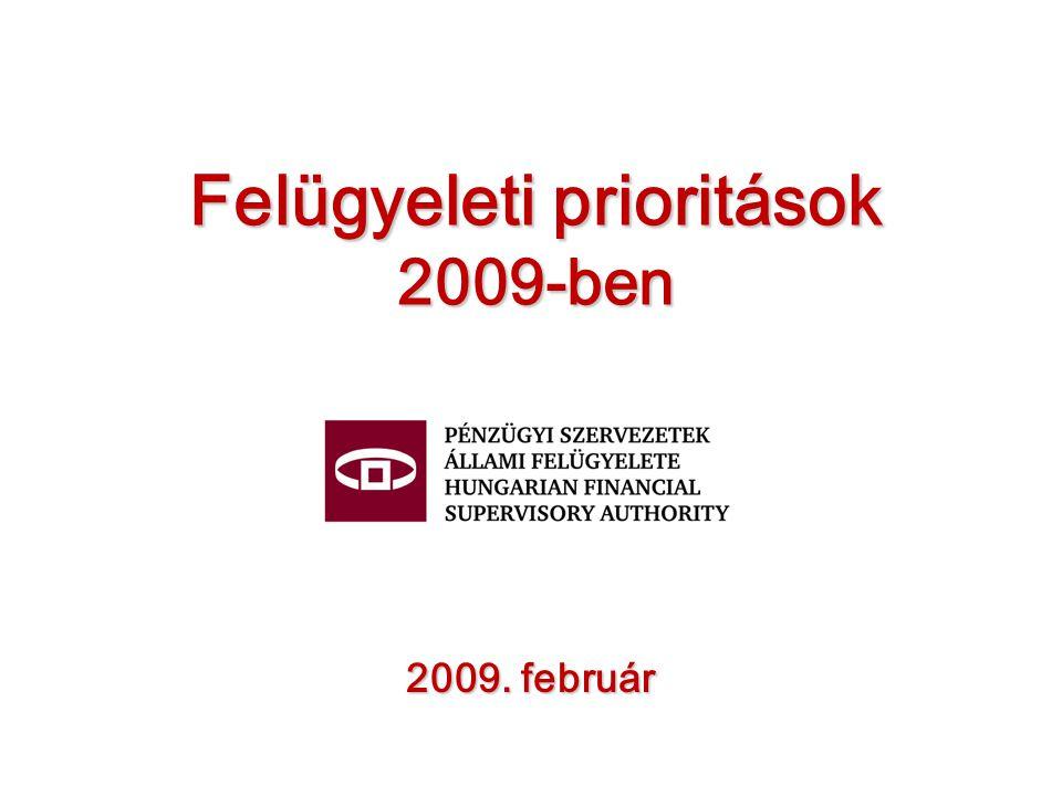 Felügyeleti prioritások 2009-ben 2009. február