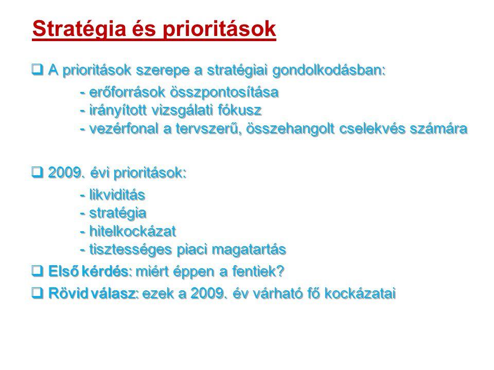 Stratégia és prioritások  A prioritások szerepe a stratégiai gondolkodásban: - erőforrások összpontosítása - irányított vizsgálati fókusz - vezérfonal a tervszerű, összehangolt cselekvés számára  2009.