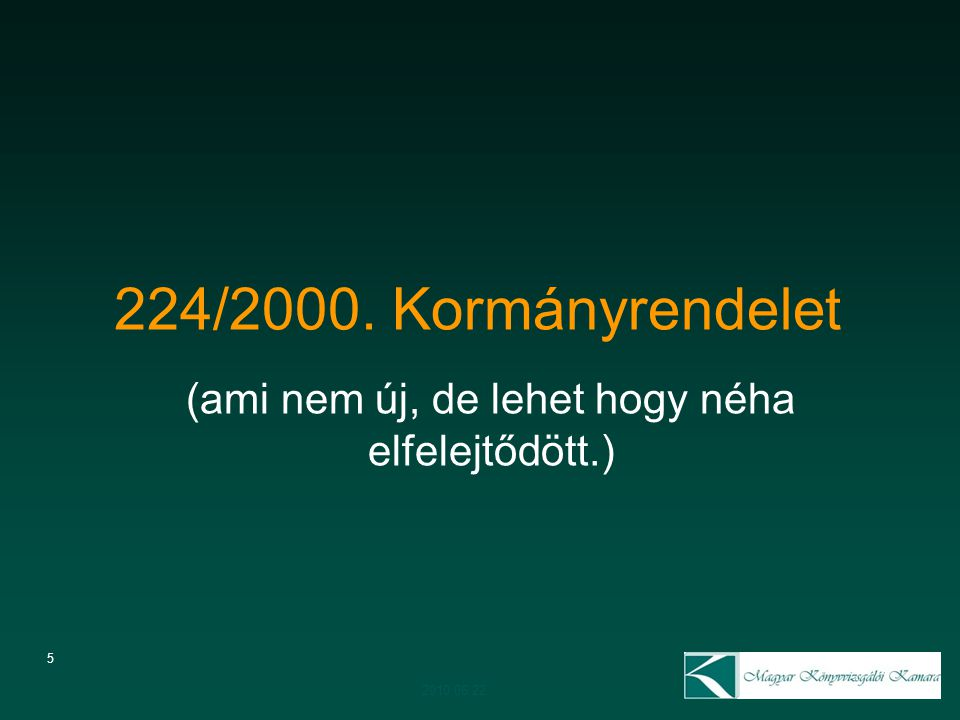 6 Beszámolási kötelezettség –Működésről –Vagyoni, pénzügyi és jövedelmi helyzetről Beszámolót köteles készíteni MINDEN társasház 2010.06.22.