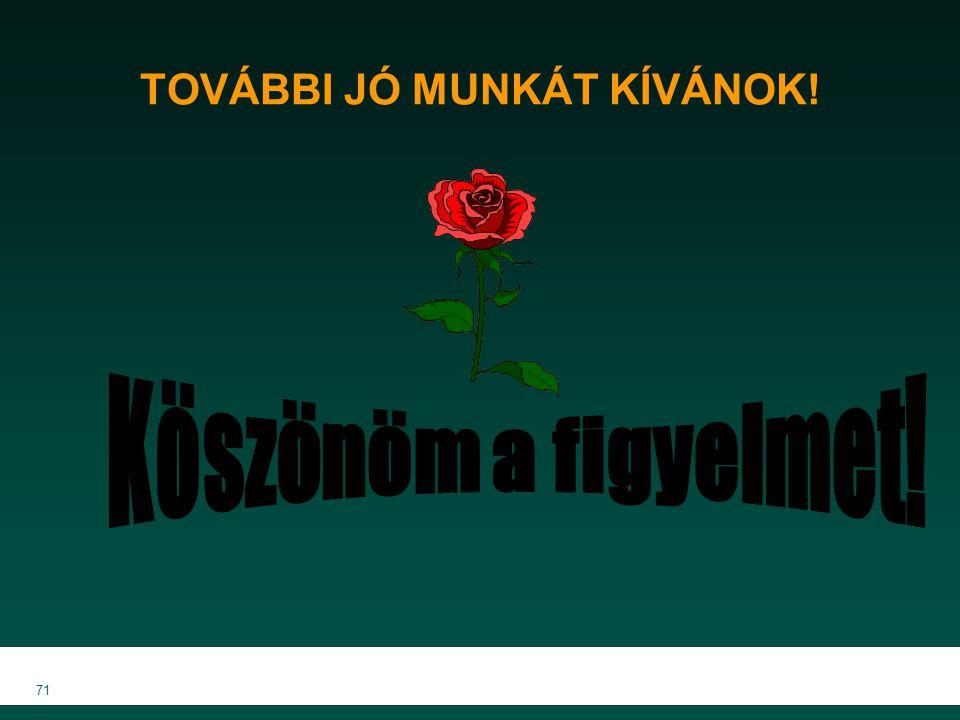 MKVK MEB 2007 71 TOVÁBBI JÓ MUNKÁT KÍVÁNOK!