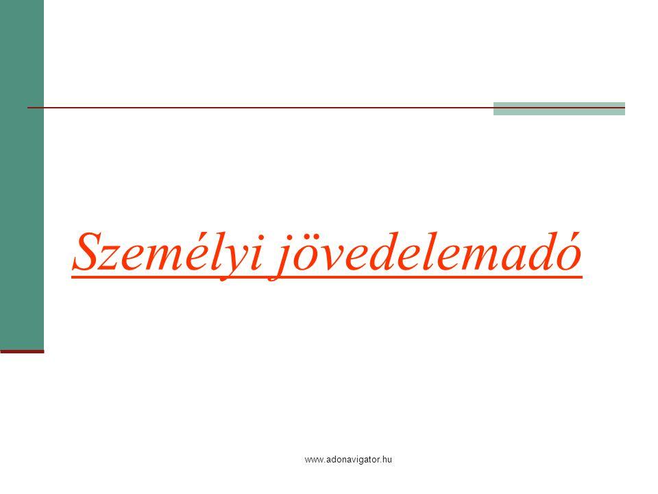 www.adonavigator.hu Személyi jövedelemadó