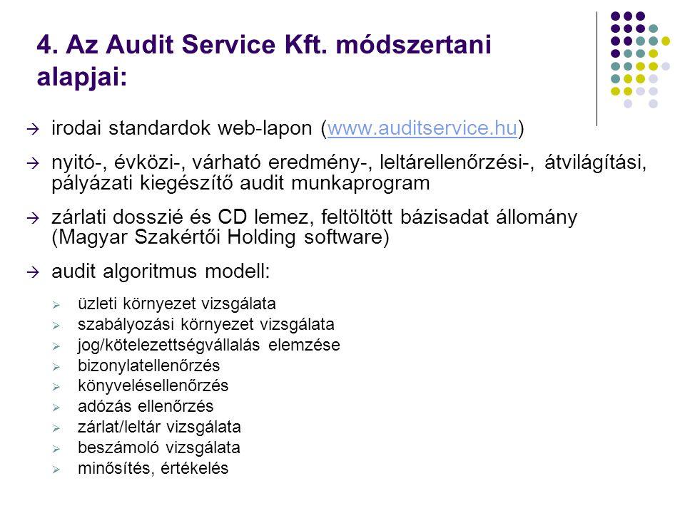 4. Az Audit Service Kft.