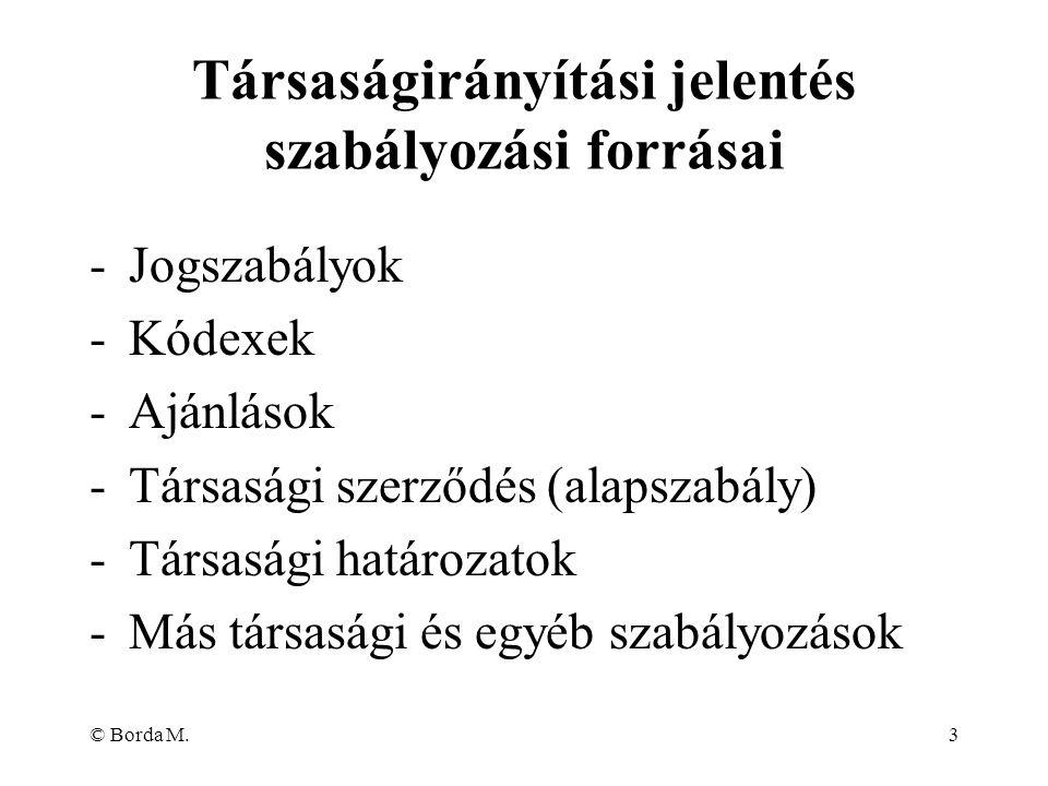 © Borda M.3 -Jogszabályok -Kódexek -Ajánlások -Társasági szerződés (alapszabály) -Társasági határozatok -Más társasági és egyéb szabályozások Társaság