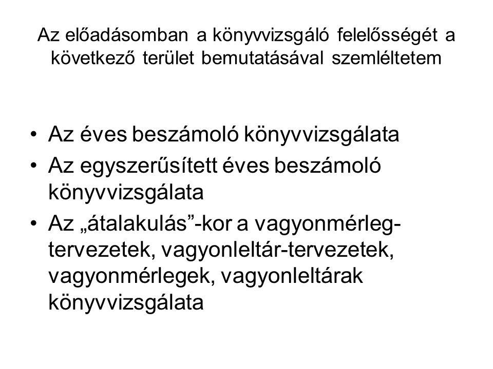 A könyvvizsgáló felelőssége A magyar Nemzeti Könyvvizsgálati Standardok szerinti munka végzéséért.