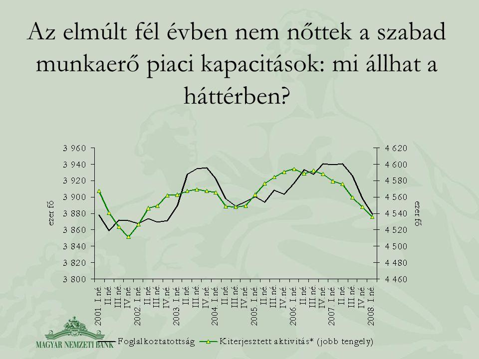 Az elmúlt fél évben nem nőttek a szabad munkaerő piaci kapacitások: mi állhat a háttérben