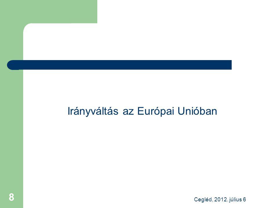 Az uniós jogalkotás fő iránya: szigorítás a közérdeklődésre számot tartó gazdálkodók könyvvizsgálóinál Okok: – globális tőkepiacokon tapasztalt jelenségek – elhúzódó pénzügyi válság – befektetői visszajelzések – bizalomvesztés a könyvvizsgálatban Megoldás – kötelezően végrehajtandó rendelet az önszabályozás megszüntetése egységes keretrendszer Európában – a könyvvizsgálói irányelv kapcsolódó módosítása Cegléd, 2012.