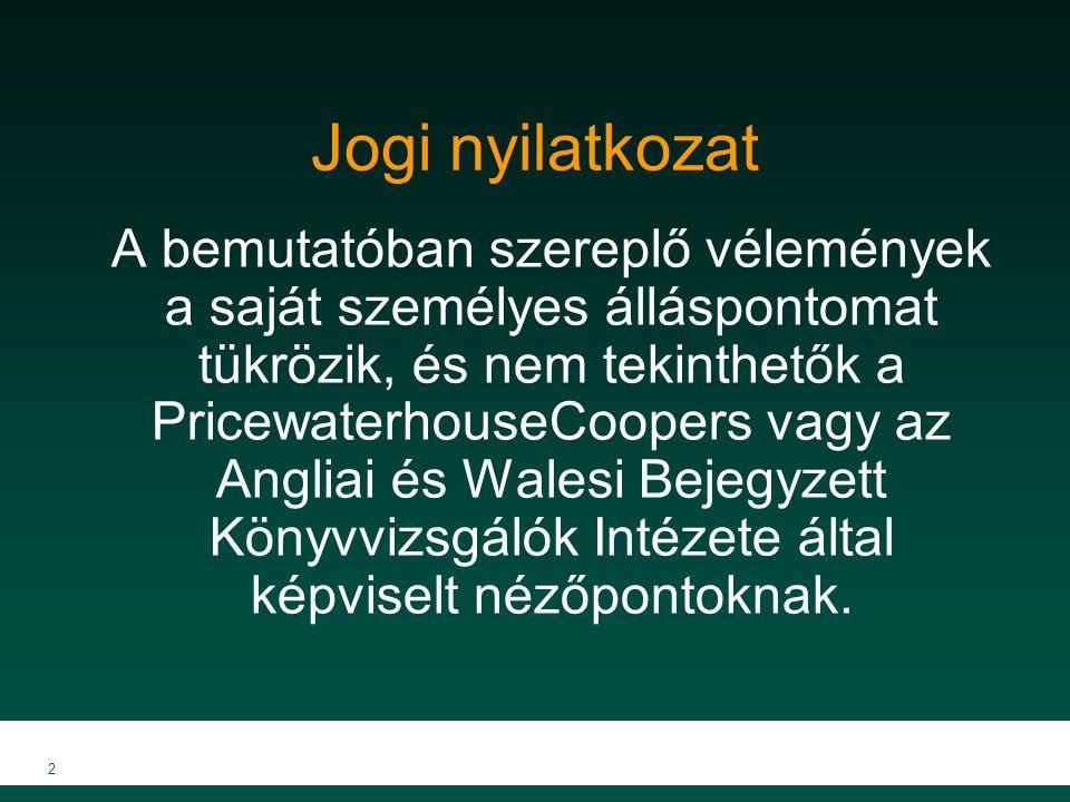 13 A magyarországi helyzetről Magyarország a közepes méretű országok közé sorolható az EU-n belül Valószínűsíthetően az EU uralkodó irányvonalát fogja követni Magyarország gazdasága folyamatosan bővül Nagy üzleti lehetőségek rejlenek a régióban, amelyeket jelenleg a nagyobb cégek tudnak kiaknázni, mint például az OTP és a MOL, valamint a kisebb cégek számára is van lehetőség Ésszerű áron van szükség tőkére.