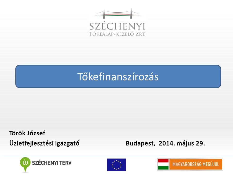 Török József Üzletfejlesztési igazgató Budapest, 2014. május 29. Tőkefinanszírozás