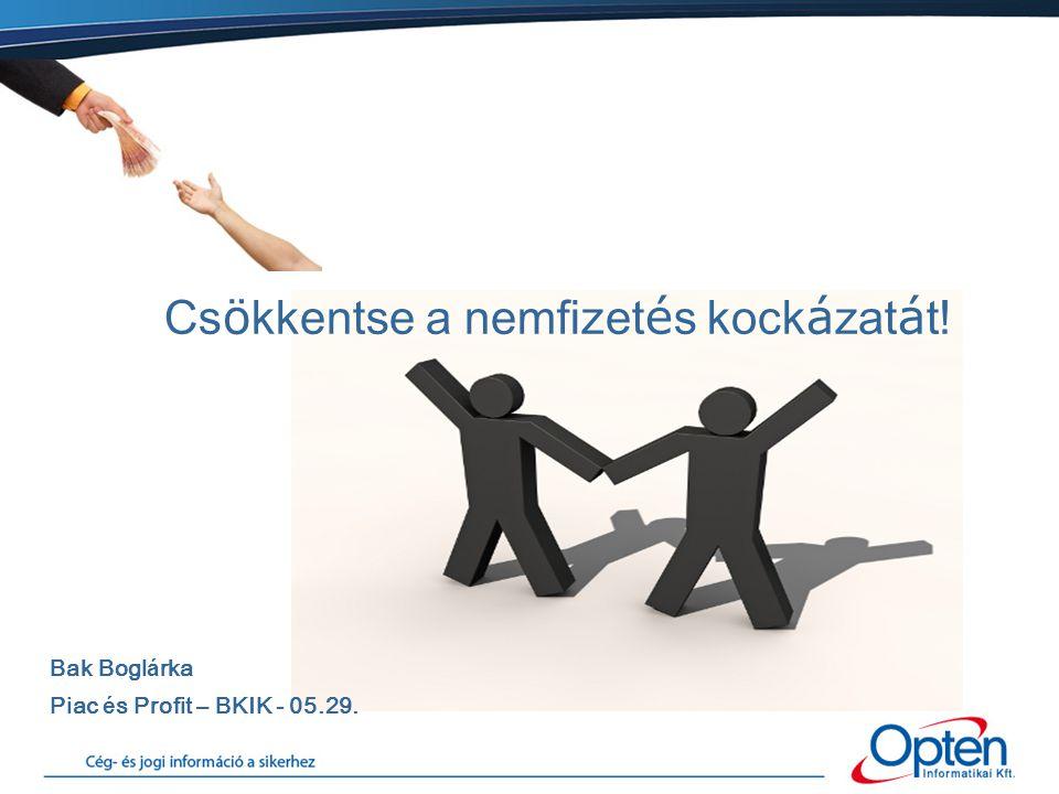 Opten = Inform á ci ó a sikerhez.