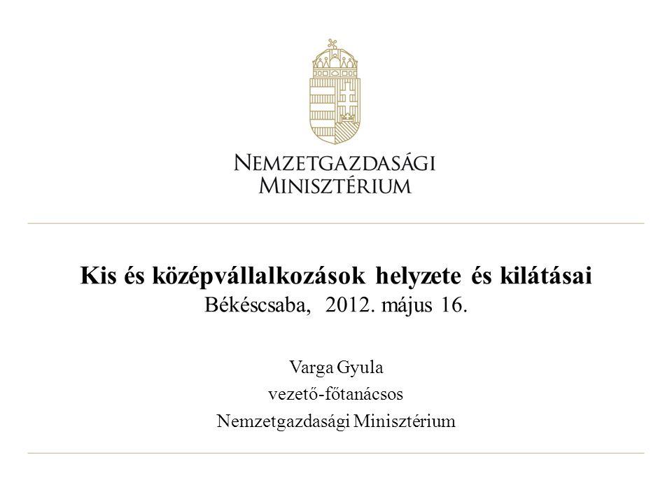 Kis és középvállalkozások helyzete és kilátásai Békéscsaba, 2012.