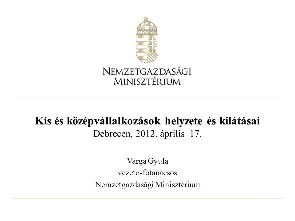 Kis és középvállalkozások helyzete és kilátásai Debrecen, 2012.