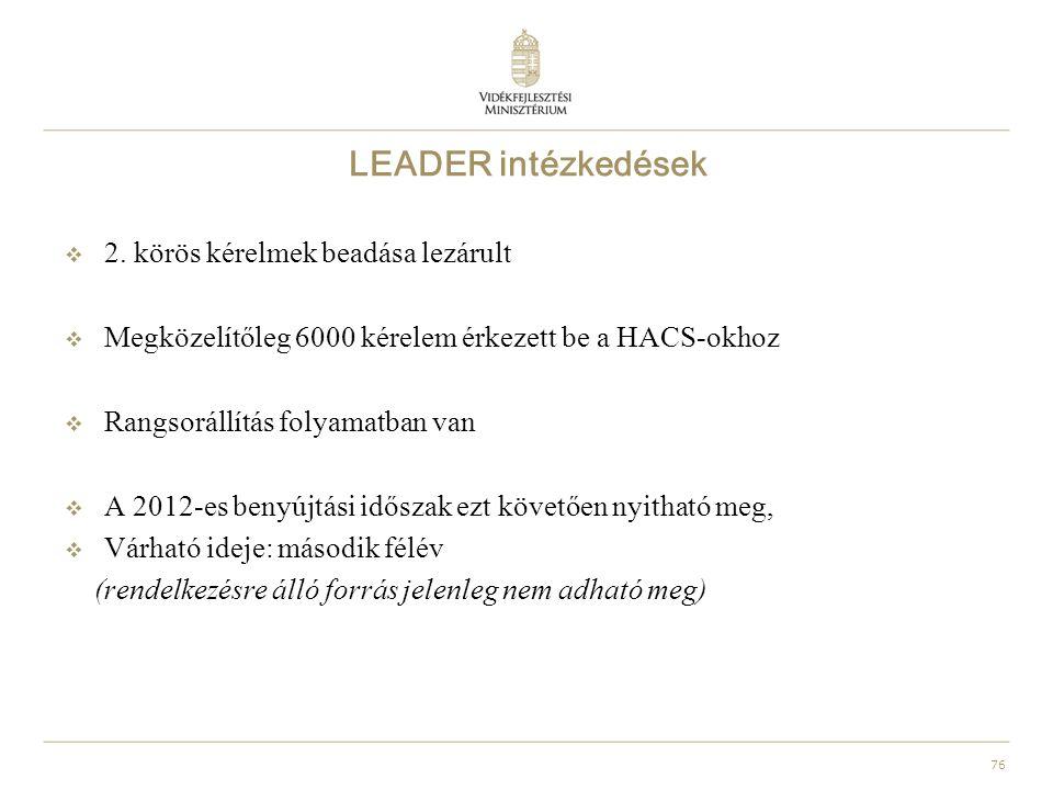 76 LEADER intézkedések  2.