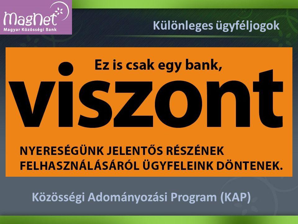 Különleges ügyféljogok Közösségi Adományozási Program (KAP)