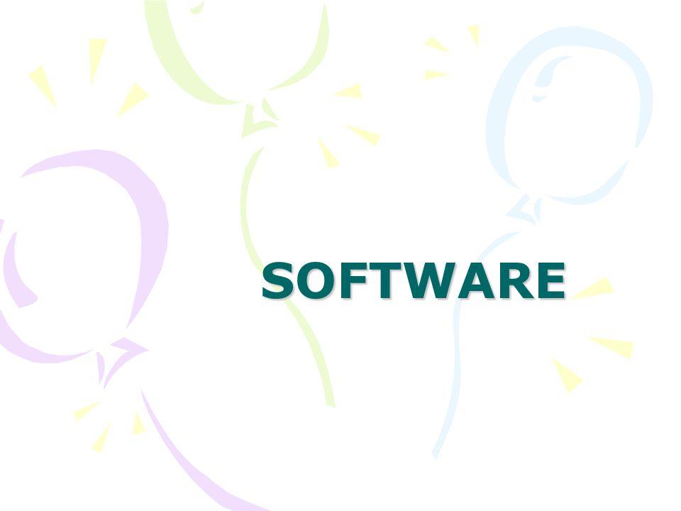 Szoftver fajtái rendszerszoftver operációs rendszer rendszer-közeli szoftver felhasználói szoftver