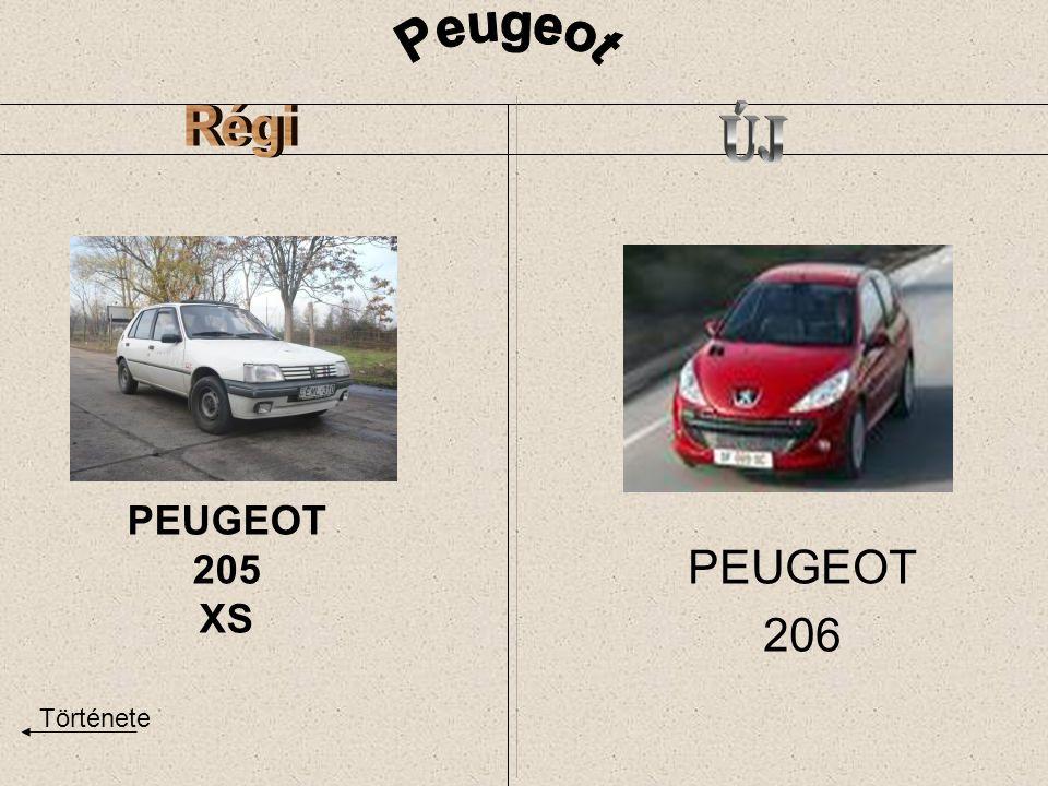 PEUGEOT 205 XS PEUGEOT 206 Története
