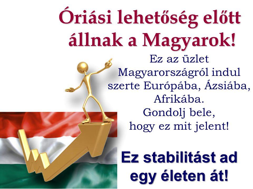 Óriási lehet ő ség el ő tt állnak a Magyarok! Ez az üzlet Magyarországról indul szerte Európába, Ázsiába, Afrikába. Gondolj bele, hogy ez mit jelent!