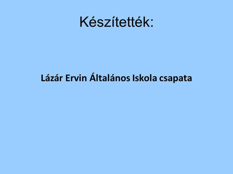 Készítették: Lázár Ervin Általános Iskola csapata