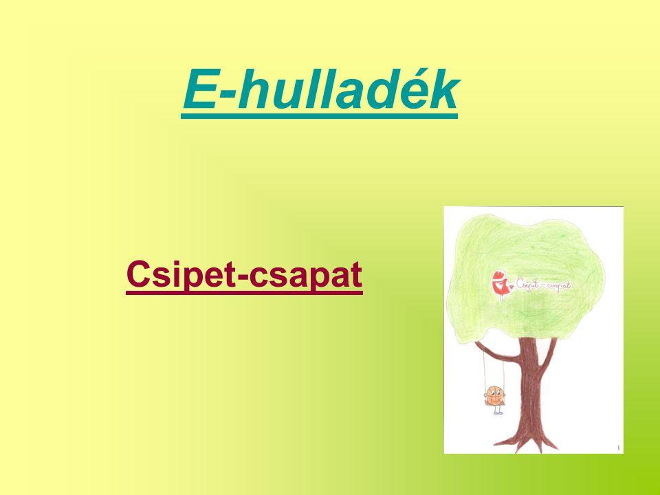 E-hulladék Csipet-csapat