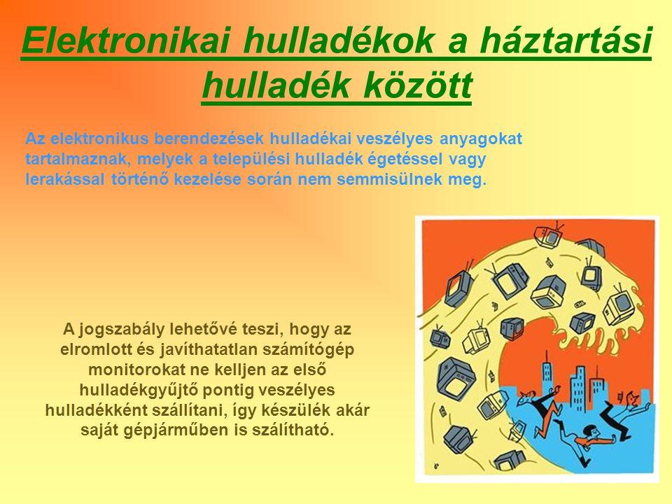 E-hulladék veszélyes anyagai Higany: Rendkívül kis töménységben is gátolja a fitoplanktonban végbemenő fotoszintézist.