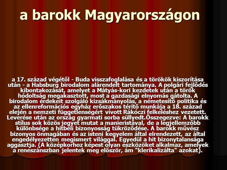 a barokk Magyarországon a 17.