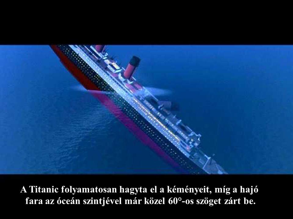 Később aztán valahogy gyorsabban süllyedt a Titanic és egyesével kezdte elveszíteni az arany kéményeit.