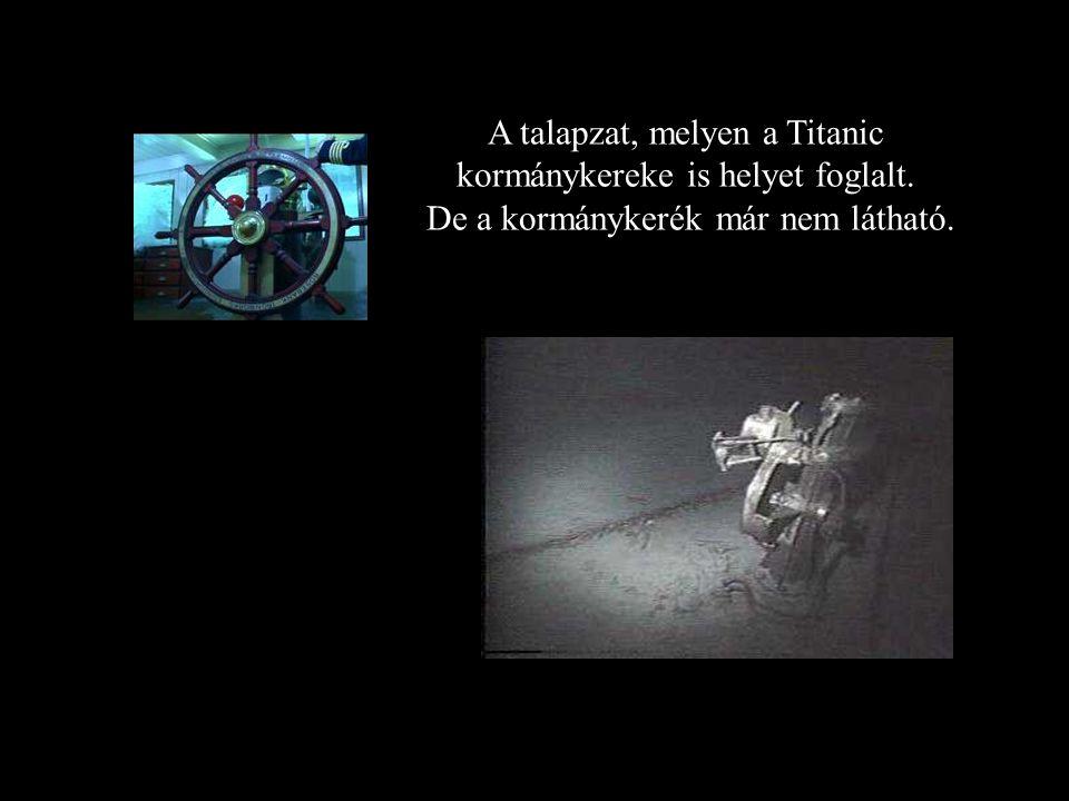 A Titanicról készült első felvétel, melyet Dr. Robert D Ballard és legénysége készített.