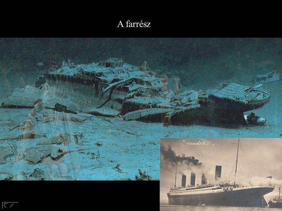 A Titanic profilja A légmentesen zárt és nyomás alatt álló rekeszek, melyek a farrész felrobbanását okozták