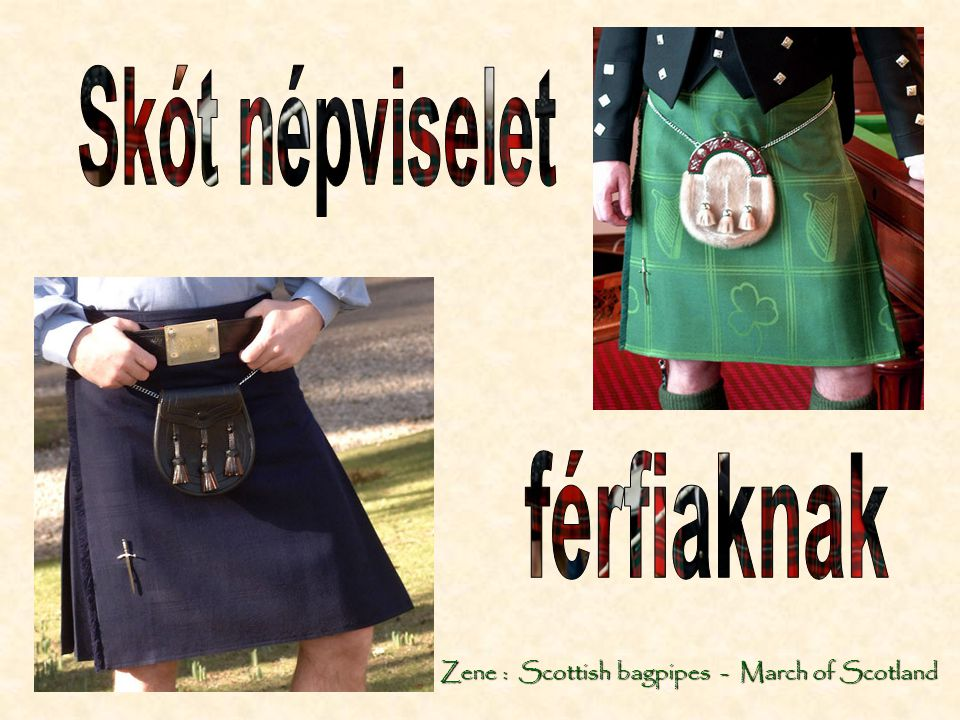 Zene : Scottish bagpipes - March of Scotland