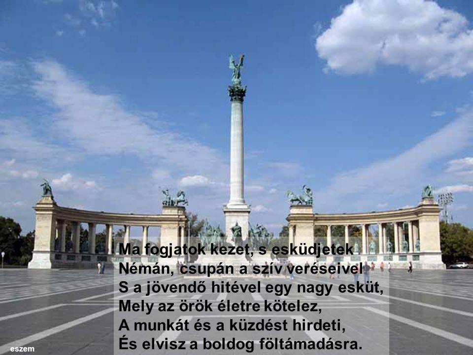 Trianon gyászos napján, magyarok, Testvéreim, ti szerencsétlen, átkos, Rossz csillagok alatt virrasztva járók, Ó, nézzetek egymás szemébe nyíltan S őszintén, s a nagy, nagy sír fölött eszem