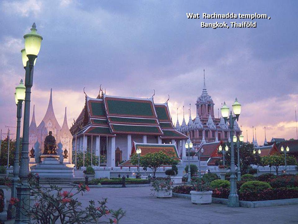 Wat Rachnadda templom, Bangkok, Thaiföld Wat Rachnadda templom, Bangkok, Thaiföld