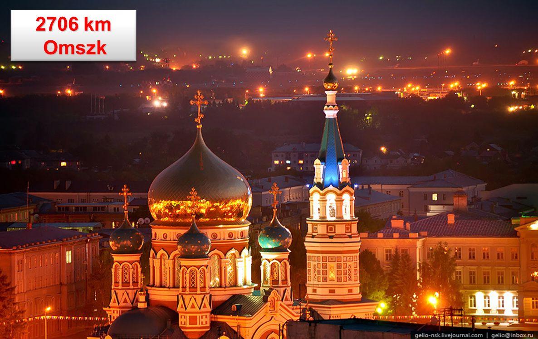 2706 km A vasút Omszknál keresztezi az Irtiszt A vasút Omszknál keresztezi az Irtiszt ( A 7. legnagyobb folyó a világon ) ( A 7. legnagyobb folyó a vi