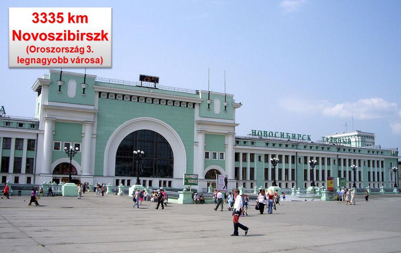 3332 km A vasút Novoszibirszknél keresztezi az Obot. (Az 5 legnagyobb folyó a világon) A vasút Novoszibirszknél keresztezi az Obot. (Az 5 legnagyobb f