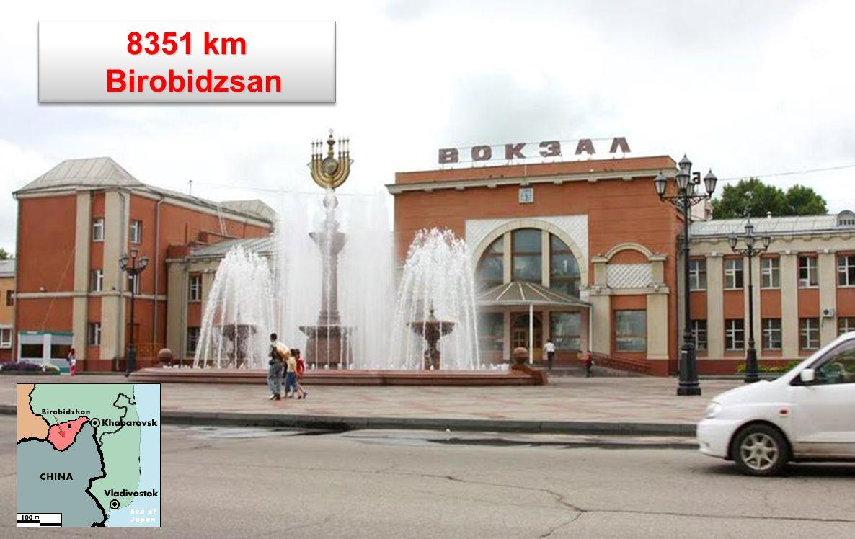 6312 km Krizsovatka a Transz-Mandzsuriai vasútvonal elágazási pontja.Innét mennek tovább Kínába Pekingig a vonatok. Krizsovatka a Transz-Mandzsuriai v