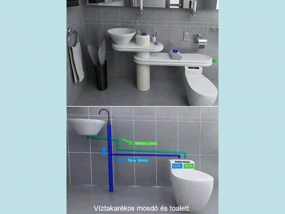 Víztakarékos mosdó és toalett