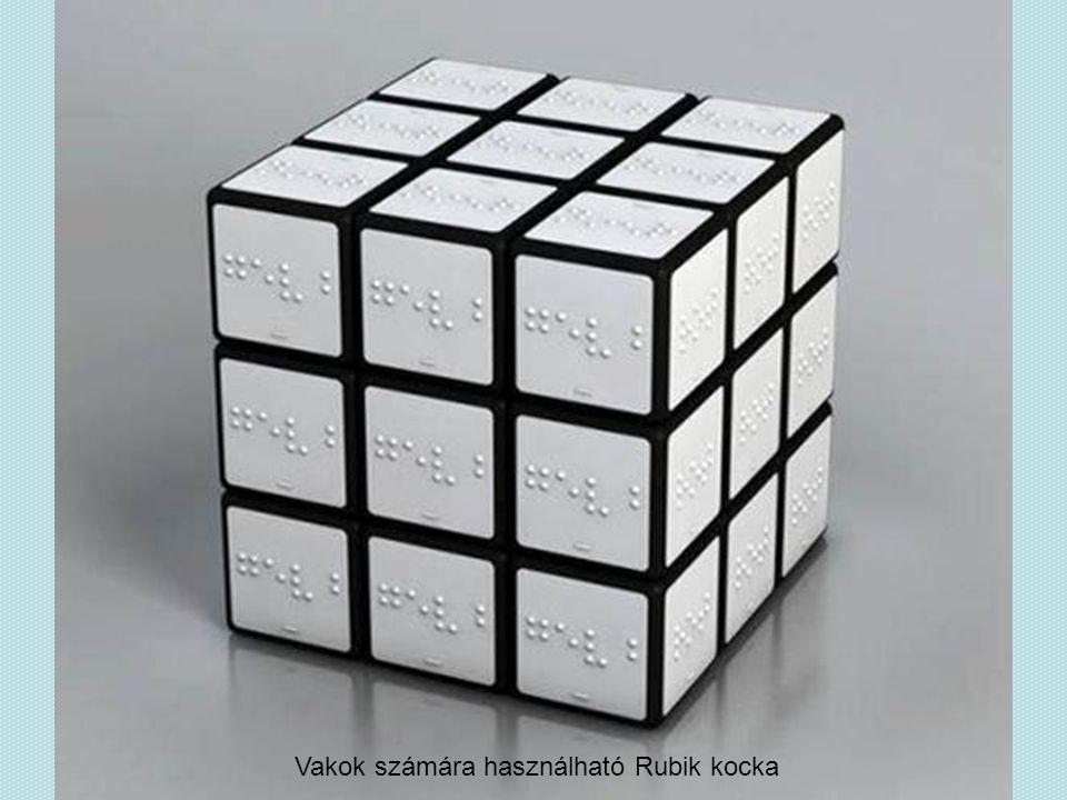 Vakok számára használható Rubik kocka