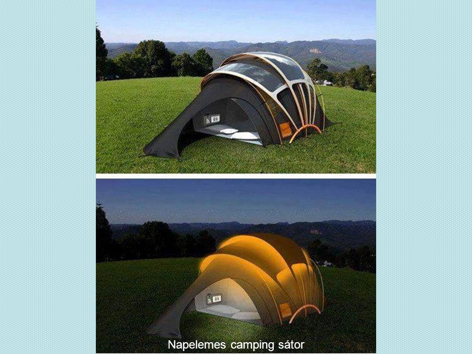 Napelemes camping sátor
