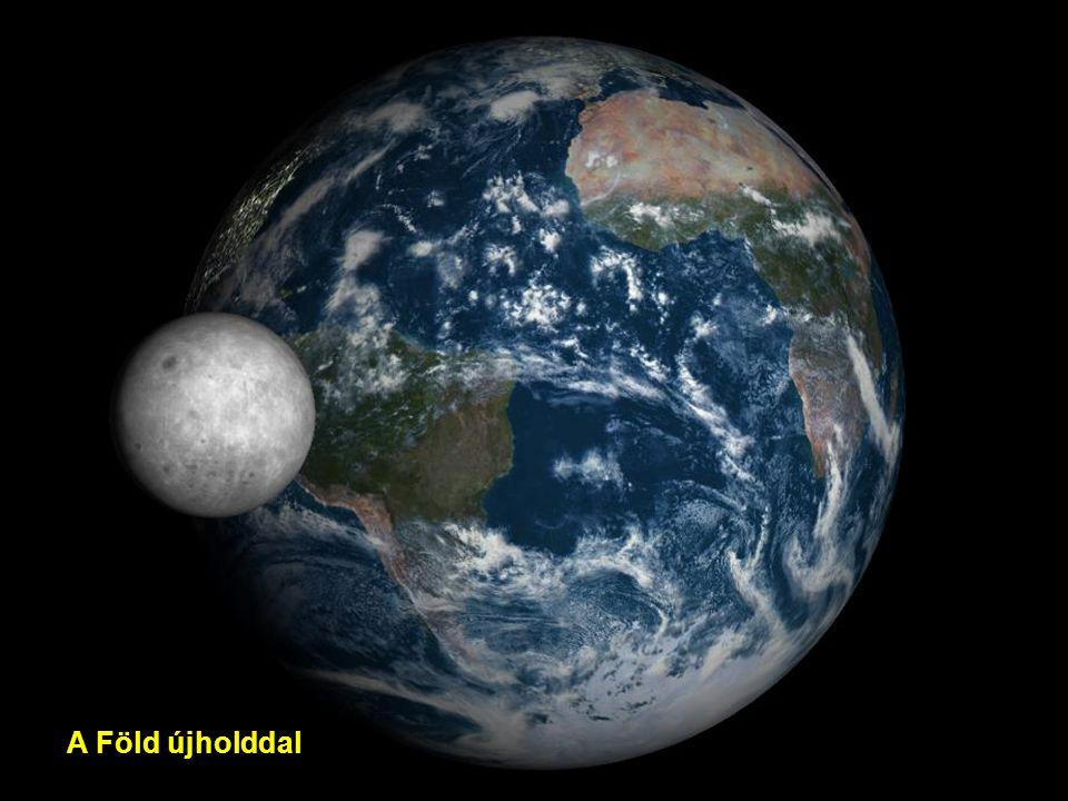 A Föld növekvő Holddal
