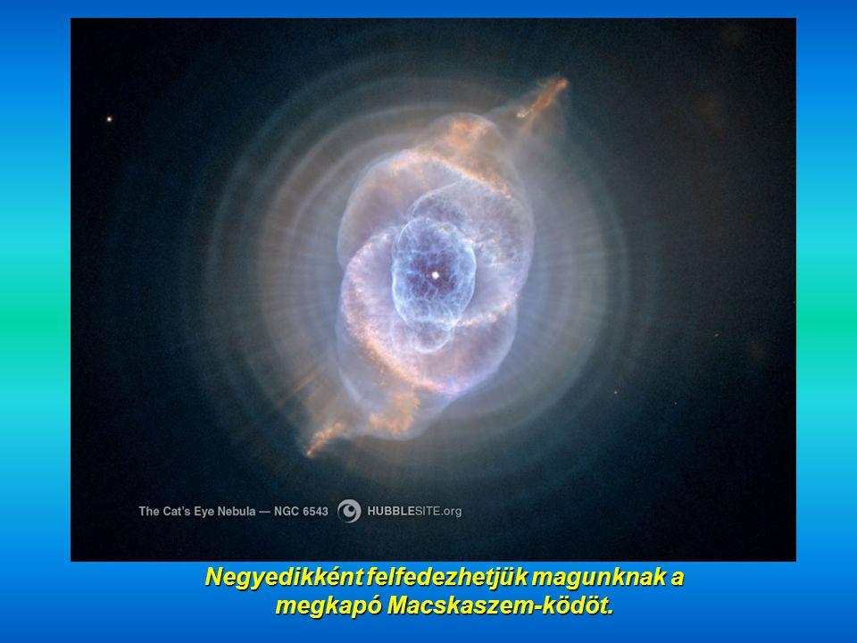 Harmadjára láthatjuk az Eszkimó-ködöt (NGC 2392) mintegy 5000 fényévre.