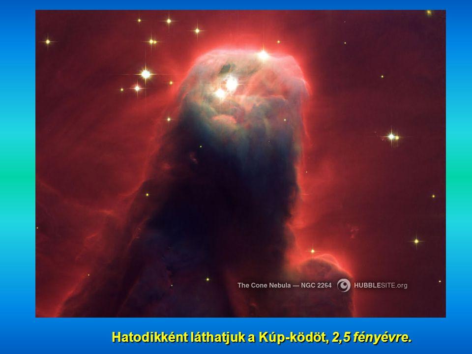 Hatodikként láthatjuk a Kúp-ködöt, 2,5 fényévre. Hatodikként láthatjuk a Kúp-ködöt, 2,5 fényévre.